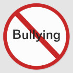 No Bullying Classic Round Sticker