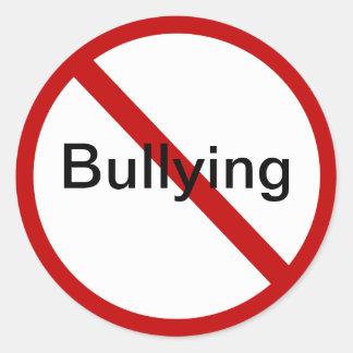 No Bullying Classic Round Sticker