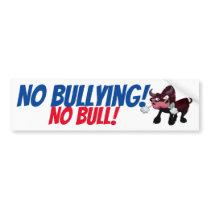 NO Bullying! NO BULL! Bus Step Sign Bumper Sticker
