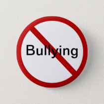 No Bullying Pinback Button