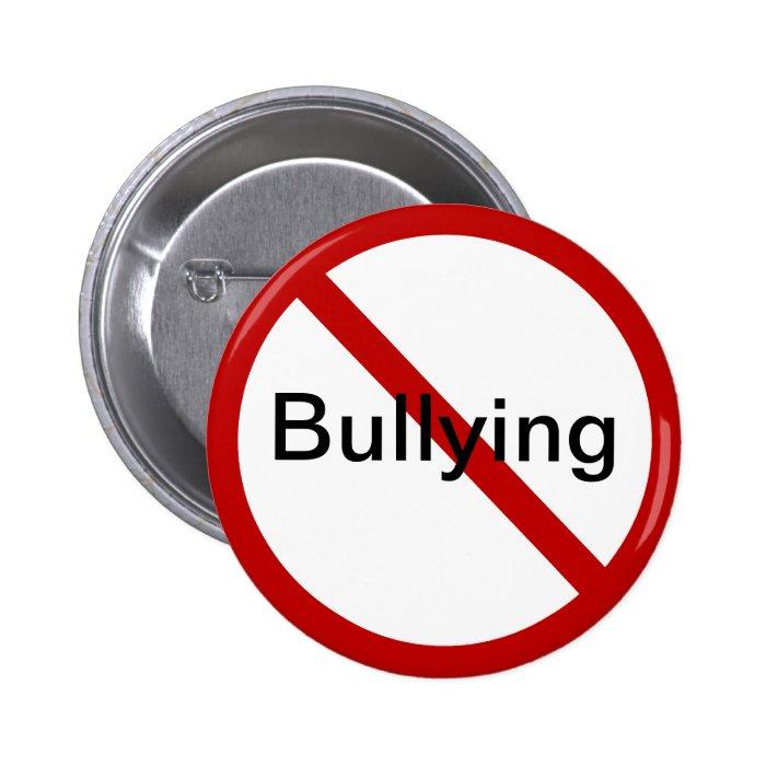 No Bullying Pinback Button