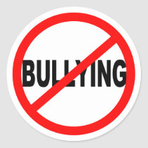 No Bullying Round Stickers
