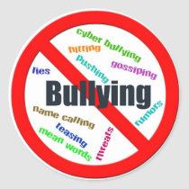 No Bullying Sticker (Round)