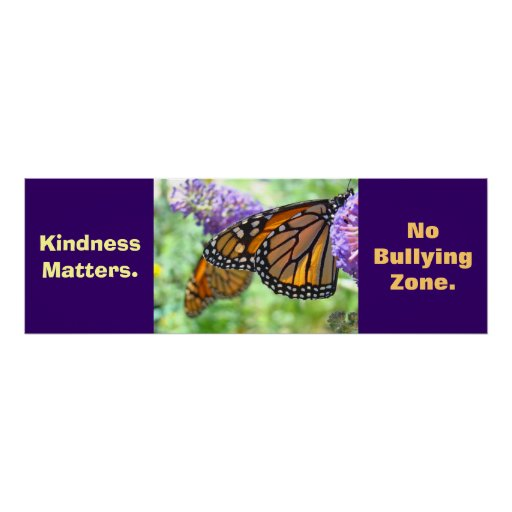 No Bullying Zone posters Schools Kindness art Kids