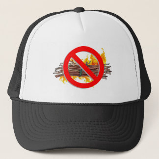 no bundles of sticks on fire trucker hat