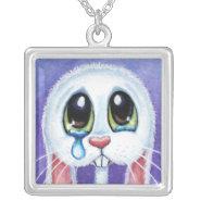 No Bunny Loves Me | Sad Rabbit Pendant necklace