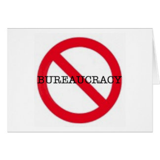 No Bureaucracy greeting card