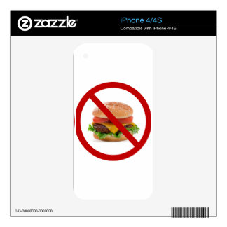 """No Burgers"" Decal For The iPhone 4"