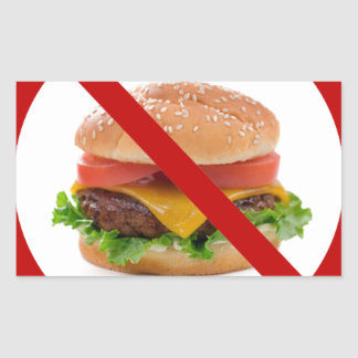 """No Burgers"" Rectangular Sticker"