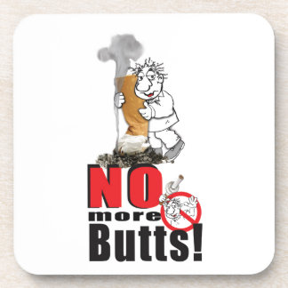 NO BUTTS - Stop Smoking Coaster