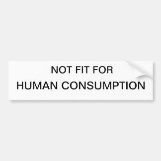 No cabido para los regalos humanos de la pegatina  pegatina para auto
