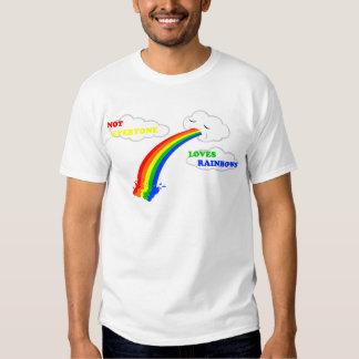 No cada uno ama diseño de los arco iris playera