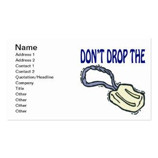 No caiga el jabón tarjetas de visita