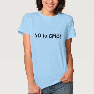 """¡""""NO camiseta de GMO"""" para las señoras! represente Camisas"""