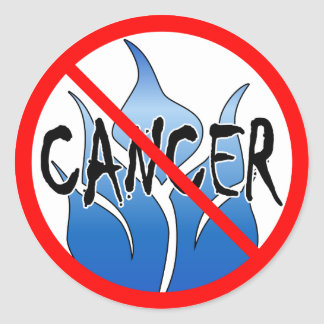 No Cancer Design Classic Round Sticker