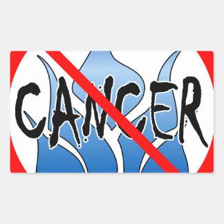 No Cancer Design Rectangular Sticker