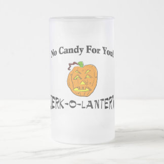 No Candy For You Frosted Glass Beer Mug
