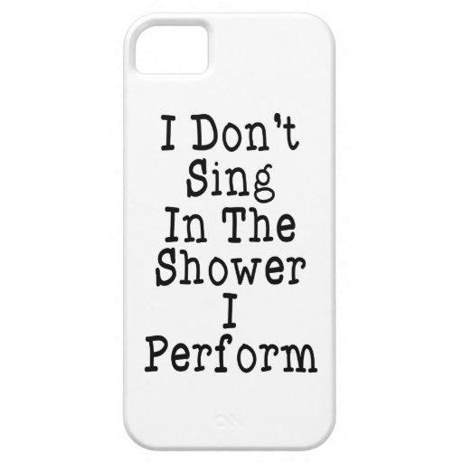 No canto en la ducha que me realizo iPhone 5 carcasas