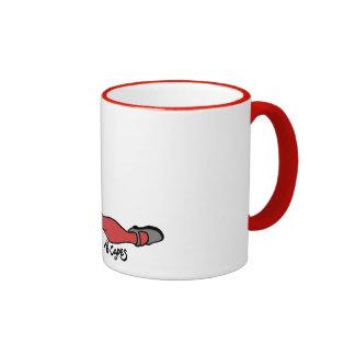 No Capes V Supervillain inspired Pin-Up mug