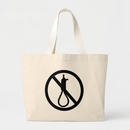 No Capital Punishment Sign Canvas Bags