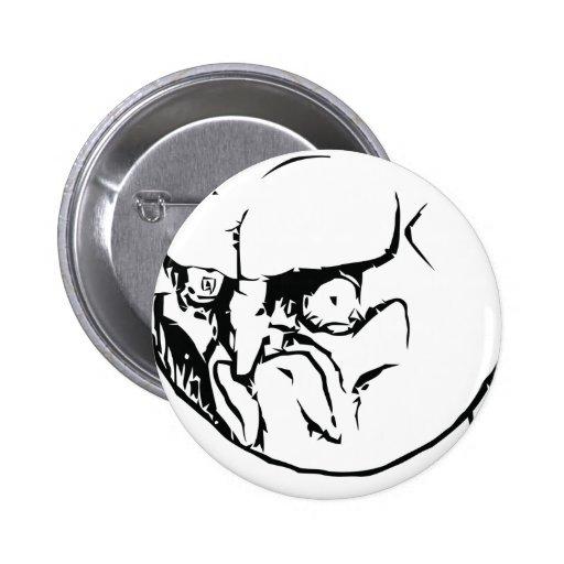 ¡NO! cara Pin Redondo 5 Cm