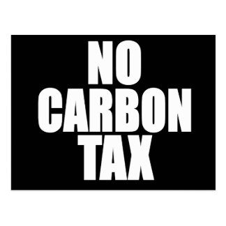 No Carbon Tax Postcard