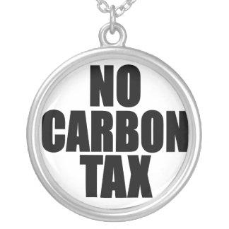 No Carbon Tax Round Pendant Necklace