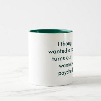 No career Two-Tone coffee mug