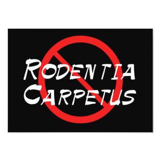 No Carpet Rats Card