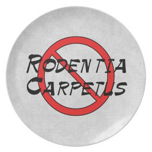 No Carpet Rats Plates