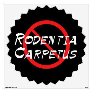 No Carpet Rats Wall Sticker