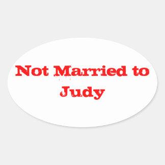 No casado con Judy Pegatina Ovalada