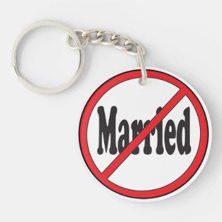No casado llavero redondo acrílico a doble cara
