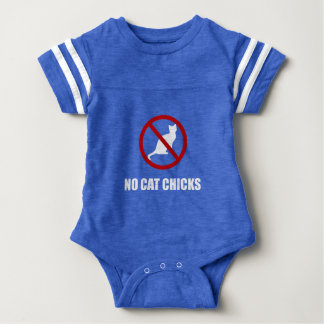 No Cat Chicks Baby Bodysuit