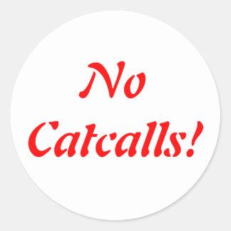 No Catcalls Stickers
