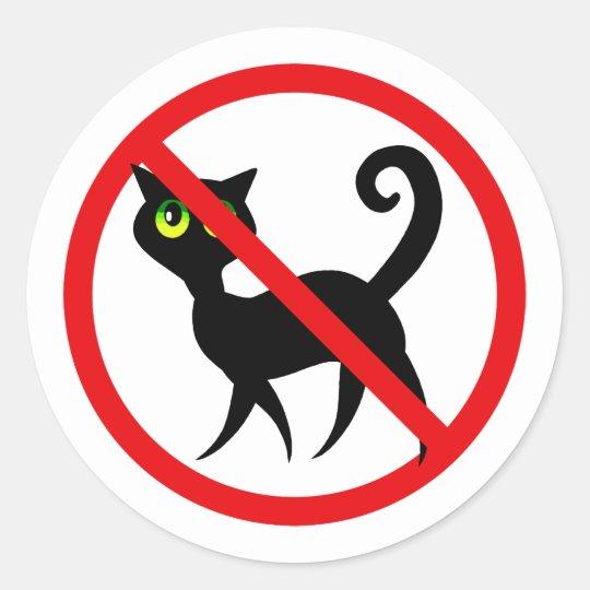 No Cats Allowed Classic Round Sticker