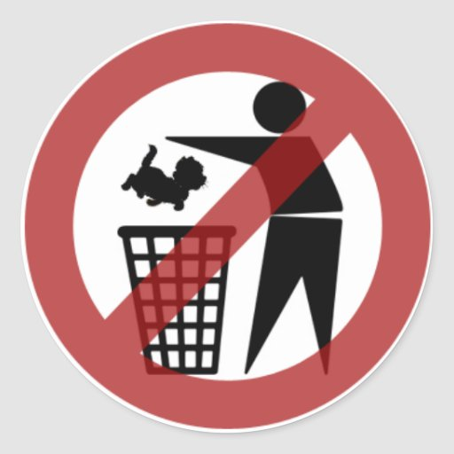 No Cats in the Bin Stickers