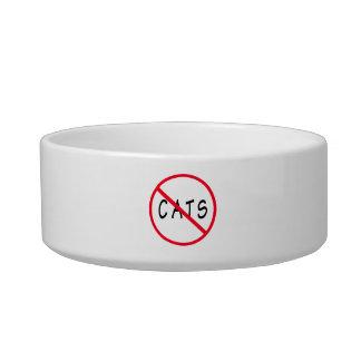 No Cats! Red Circle Sign Bowl