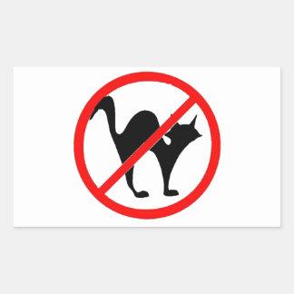 No Cats?! Rectangular Sticker