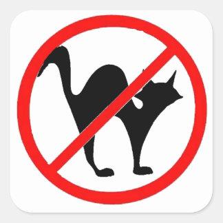 No Cats?! Square Sticker