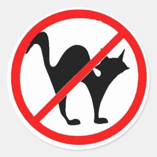 No Cats?! Round Sticker