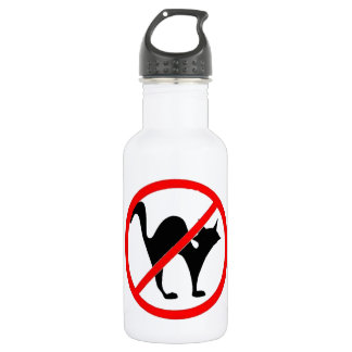 No Cats?! Water Bottle