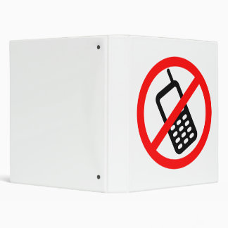 No Cell Phone Binder