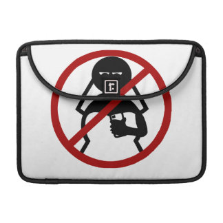 No Cell Phone Bride at Wedding MacBook Pro Sleeve