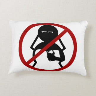 No Cell Phone Bride at Wedding Accent Pillow