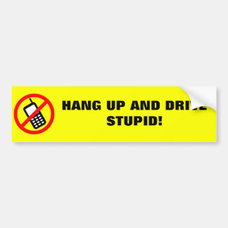No Cell Phone Bumper Sticker