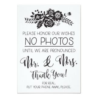 No Cell Phone Photos Wedding Ceremony Sign Card