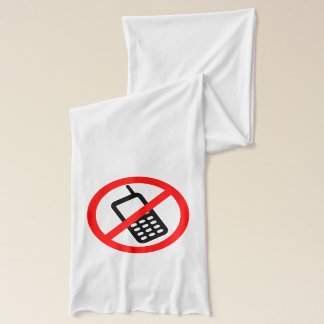 No Cell Phone Scarf
