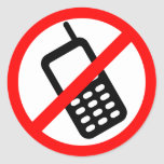 No Cell Phone Sticker