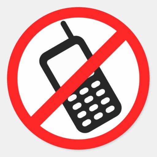 No Cell Phone Sticker
